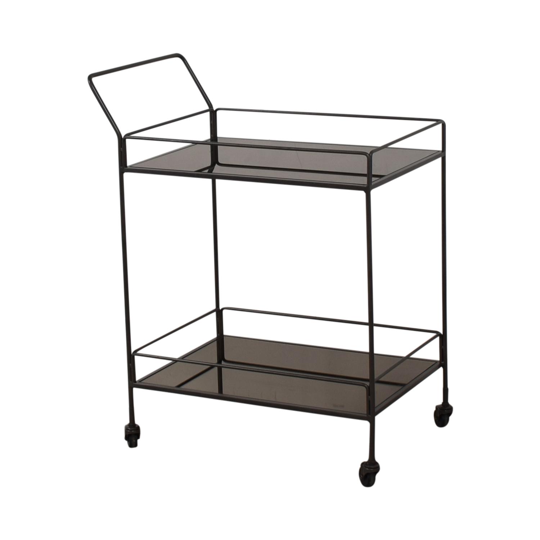 shop Crate & Barrel Bar Cart Crate & Barrel Tables