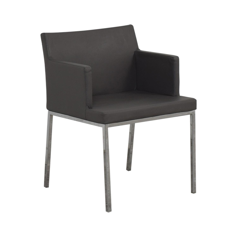 Lazzoni Lazonni Leather Chrome Chair
