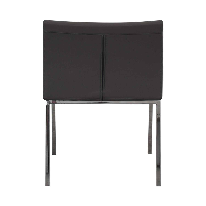 Lazzoni Lazonni Leather Chrome Chair dimensions