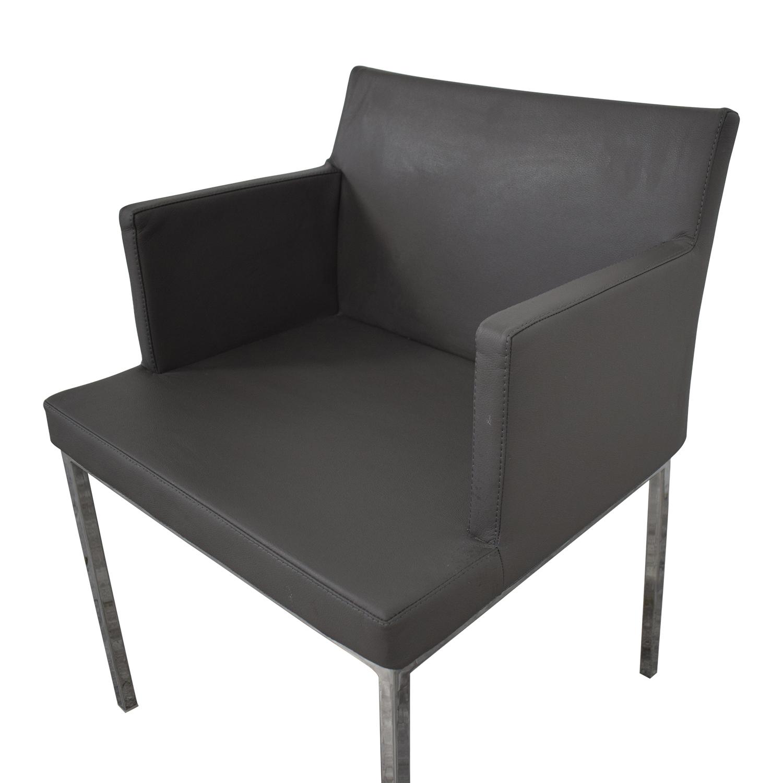 buy Lazonni Leather Chrome Chair Lazzoni Chairs