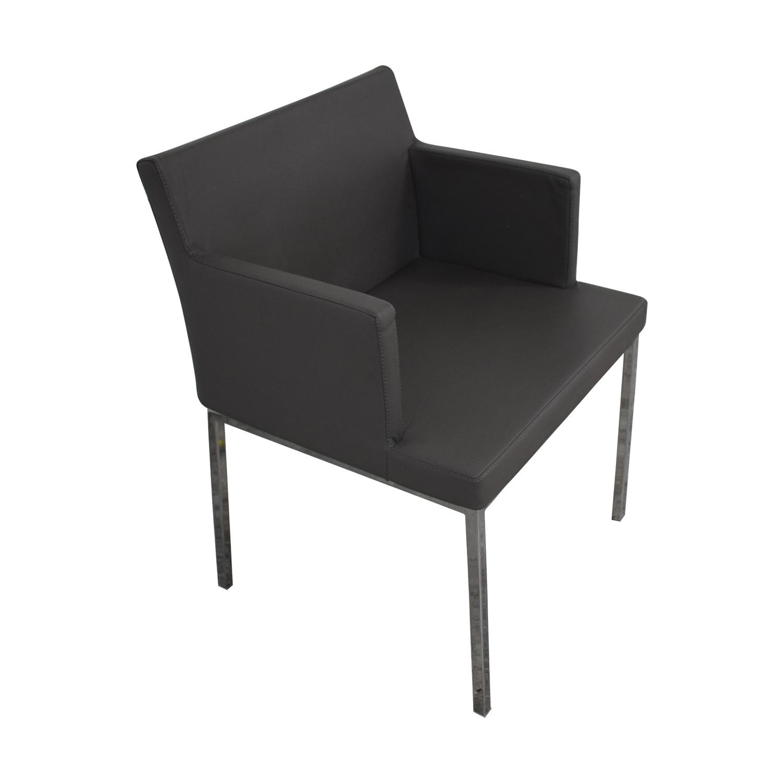 Lazzoni Lazonni Leather Chrome Chair price
