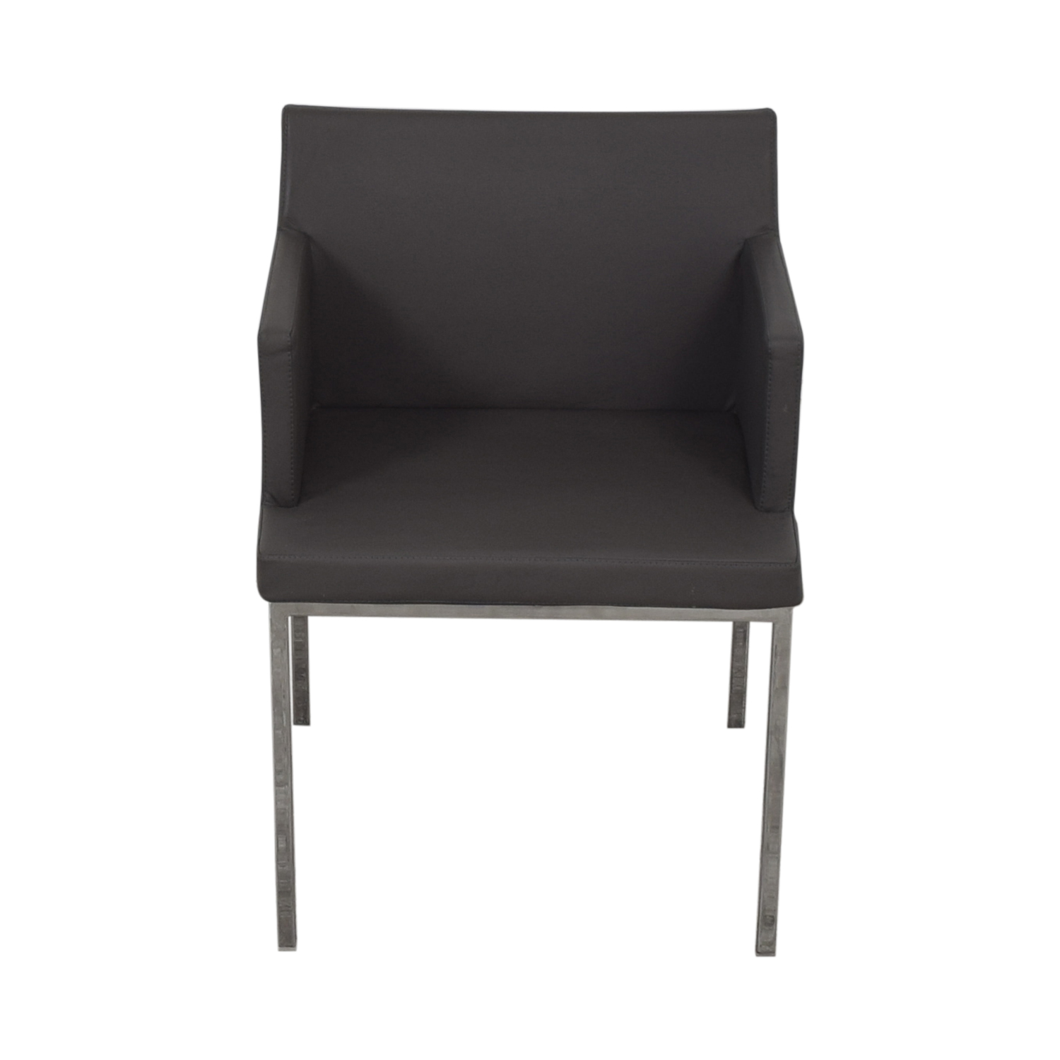 Lazzoni Lazonni Leather Chrome Chair second hand