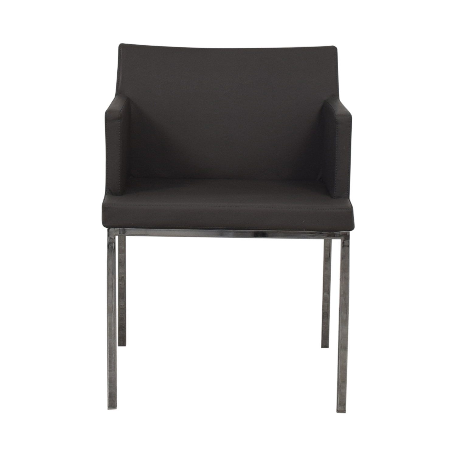 Lazzoni Leather Chrome Chair Lazzoni