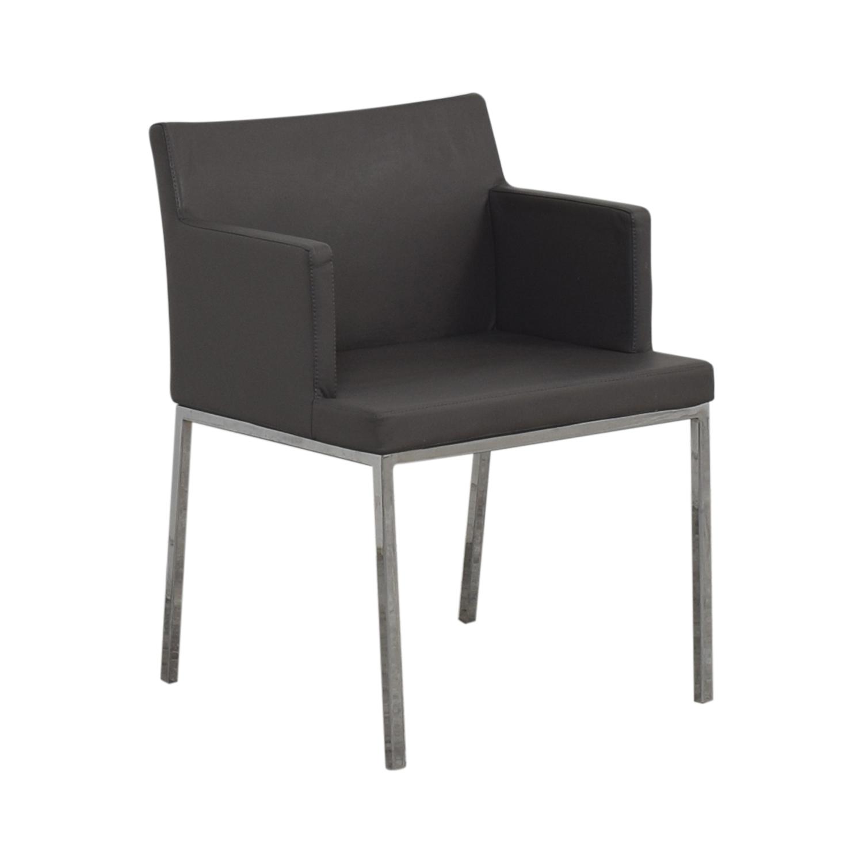 Lazzoni Lazzoni Leather Chrome Chair second hand