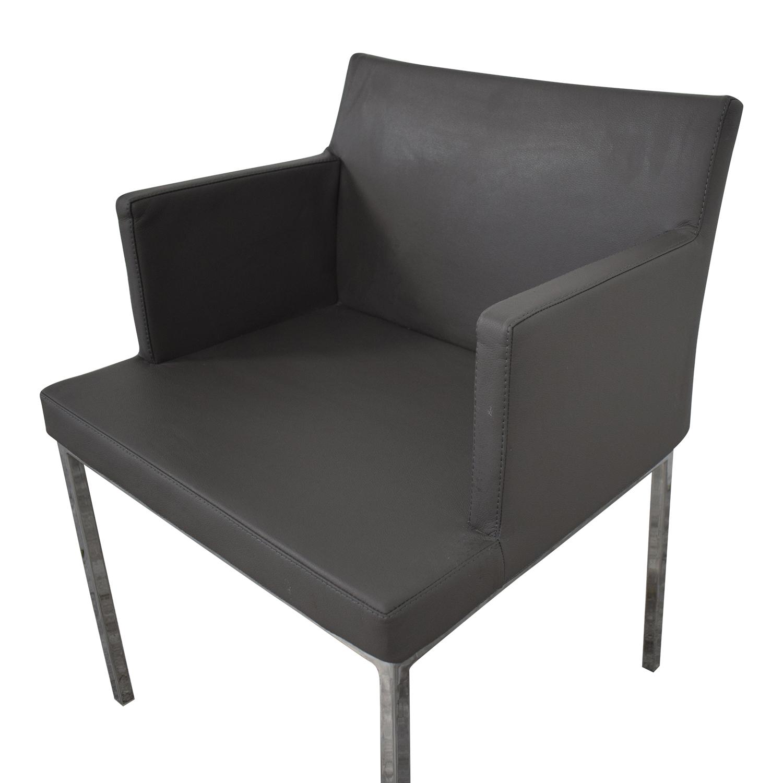 Lazzoni Leather Chrome Chair sale