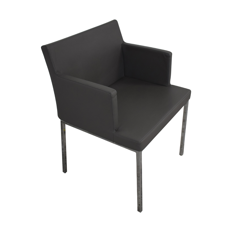 Lazzoni Lazzoni Leather Chrome Chair