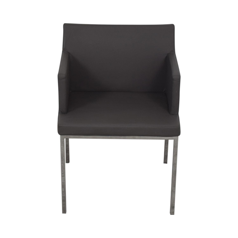 buy Lazzoni Leather Chrome Chair Lazzoni Chairs