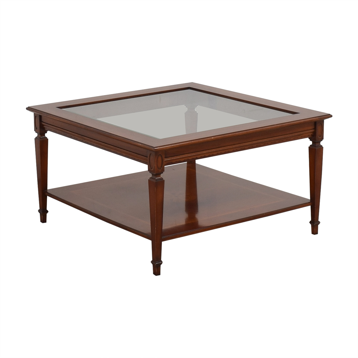 Maurice Villency Glass Top Coffee Table / Tables