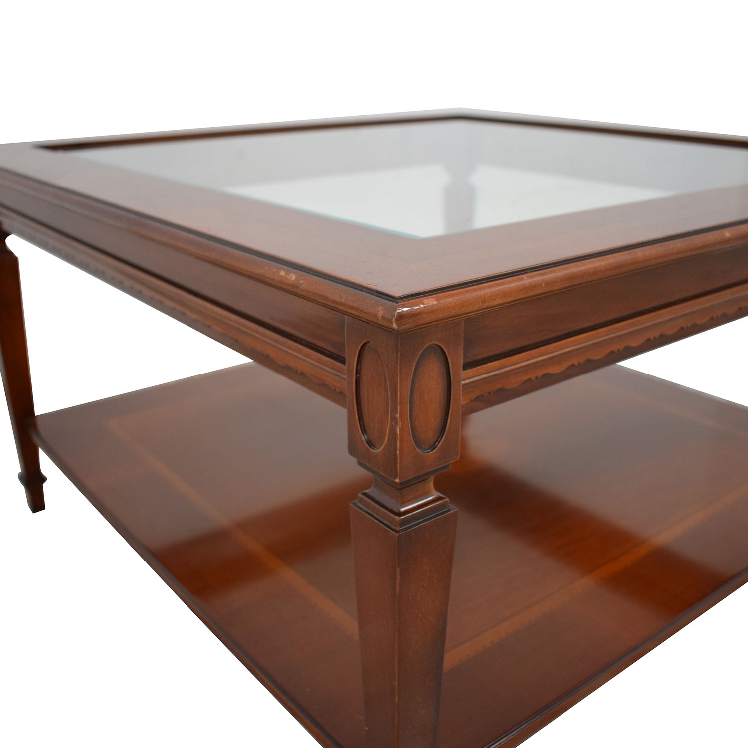 buy Maurice Villency Maurice Villency Glass Top Coffee Table online