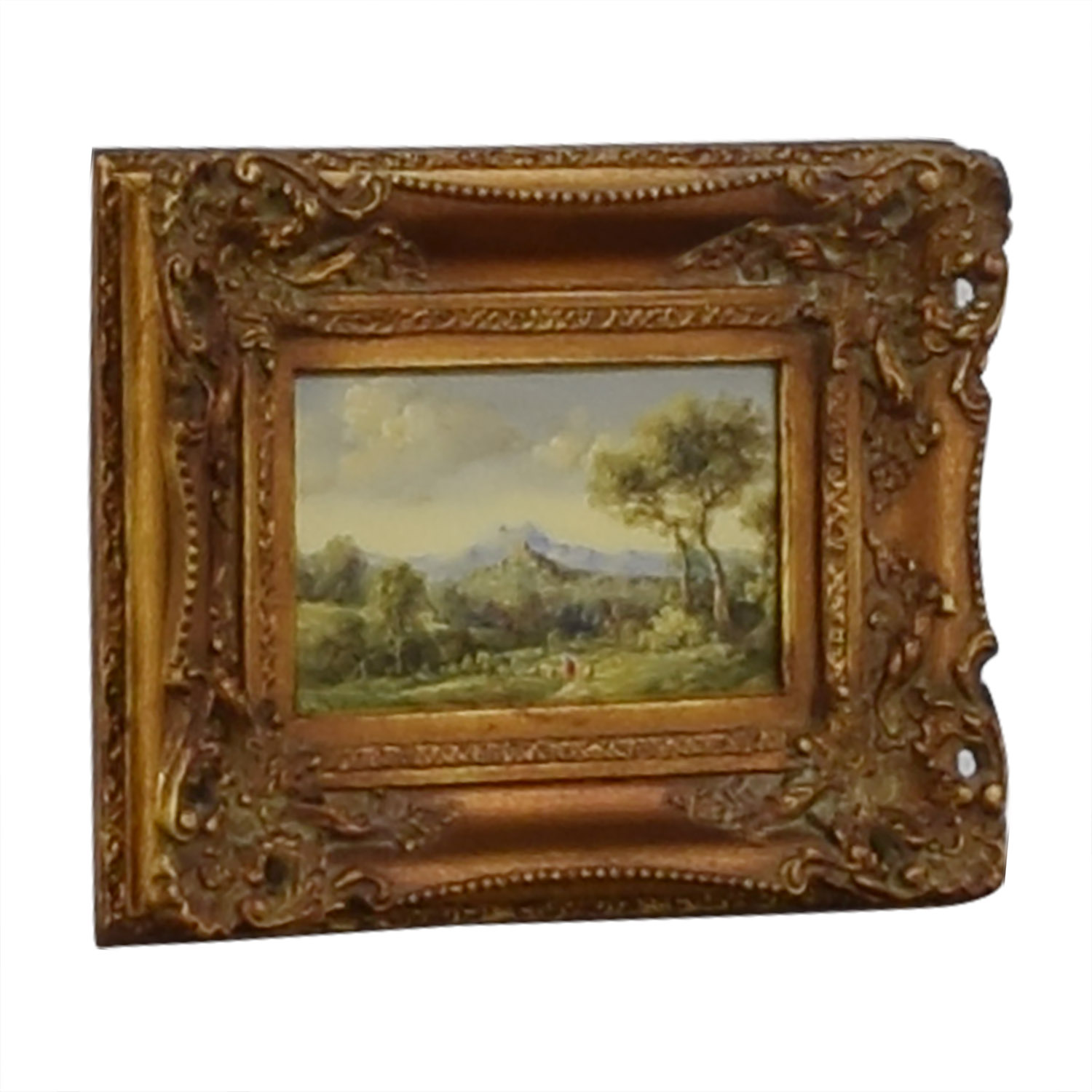 Framed Landscape Painting Decor