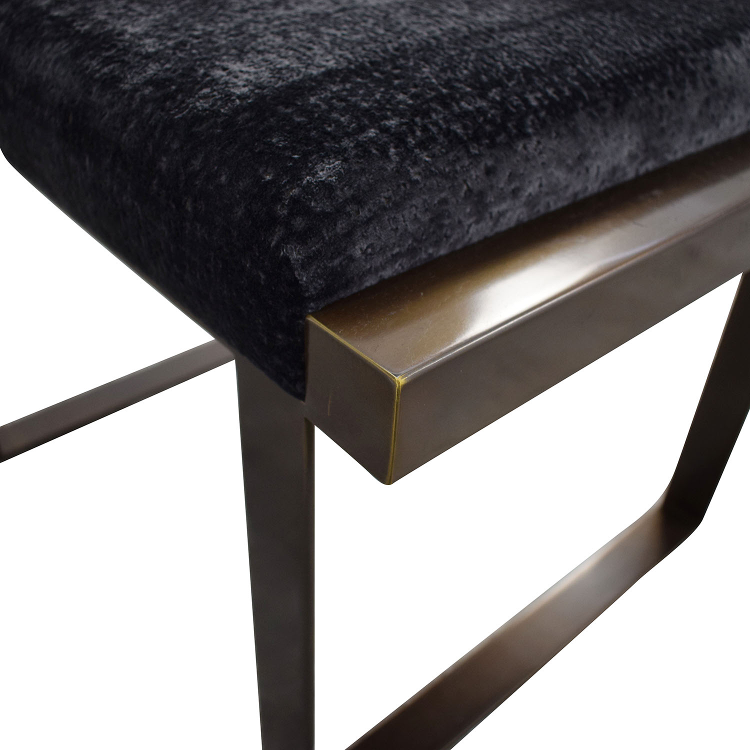 buy Douglas Jennings Upholstered and Iron Bench Douglas Jennings
