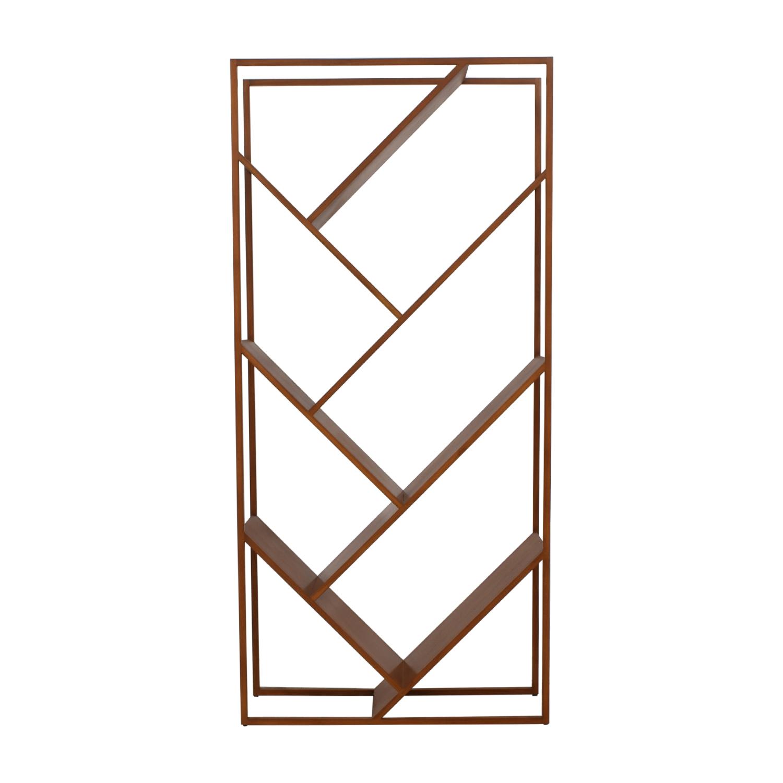 CB2 CB2 Geometric Bookcase brown