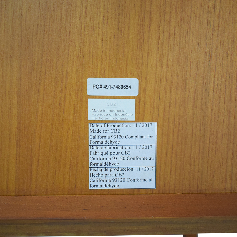 CB2 V Bookcase Room Divider / Bookcases & Shelving