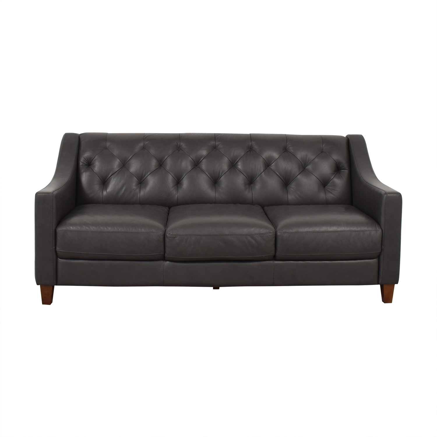 Chateau d'Ax Tufted Leather Sofa / Sofas