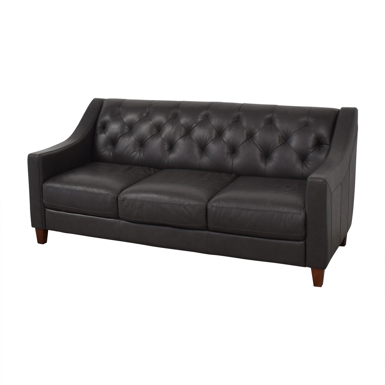 69% OFF   Chateau Du0027Ax Chateau Du0027Ax Tufted Leather Sofa / Sofas