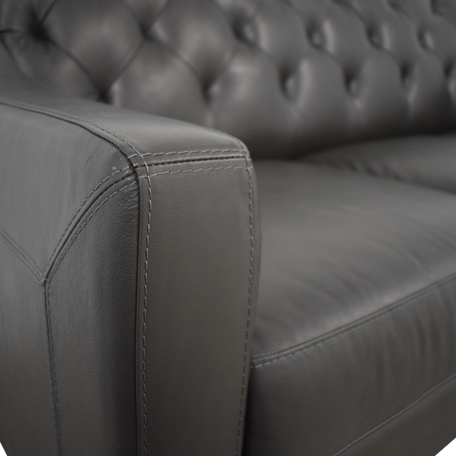 Macy's Macy's Leather Three-Seat Sofa second hand