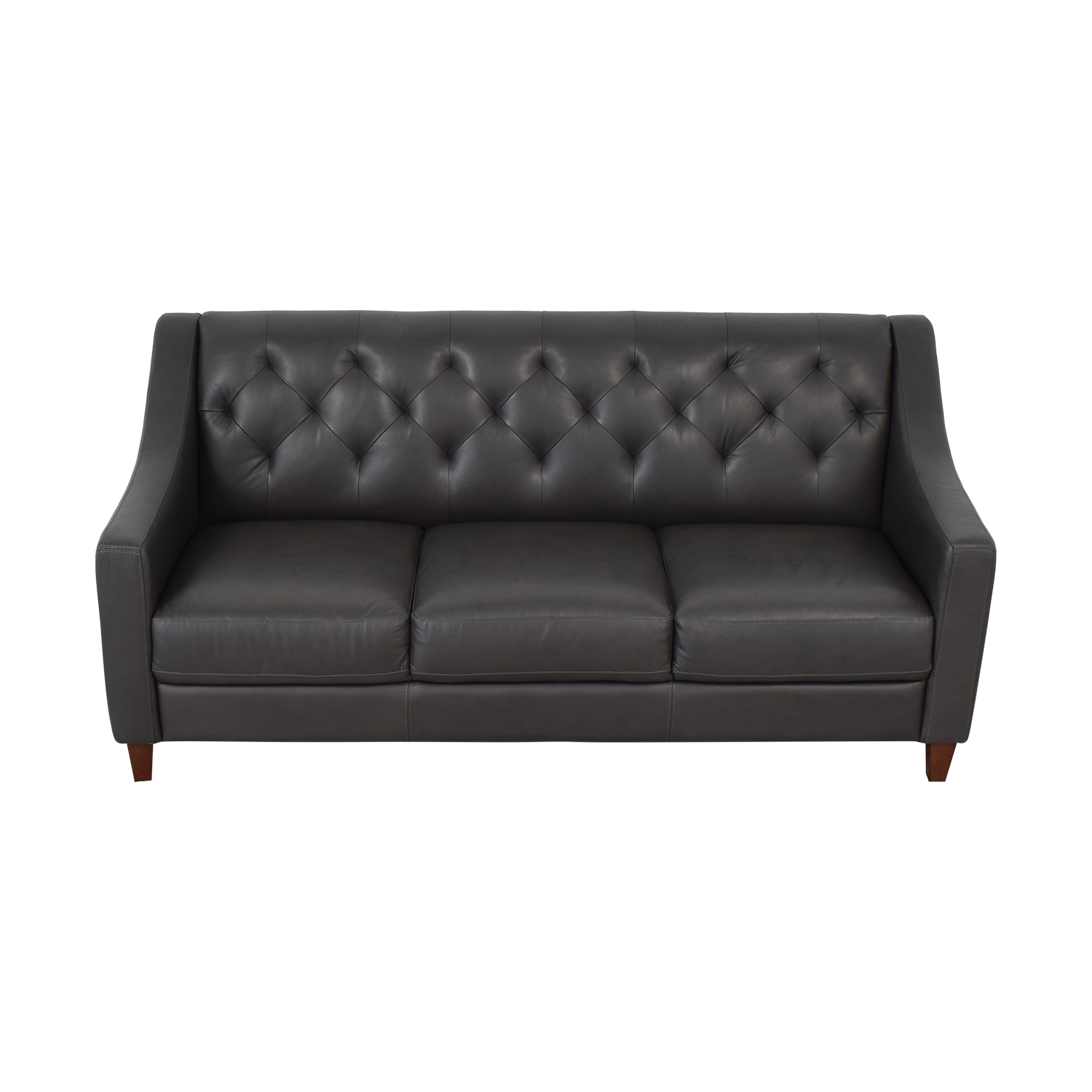 Macy's Macy's Leather Three-Seat Sofa dimensions