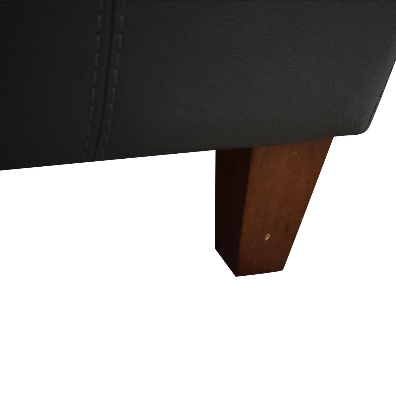Macy's Leather Three-Seat Sofa / Classic Sofas