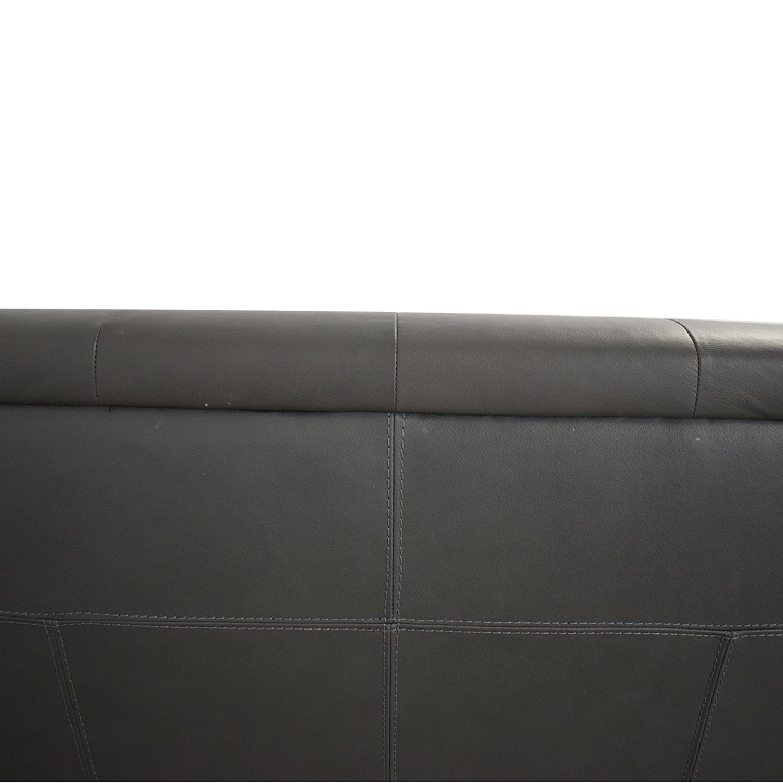 Macy's Macy's Leather Three-Seat Sofa nj