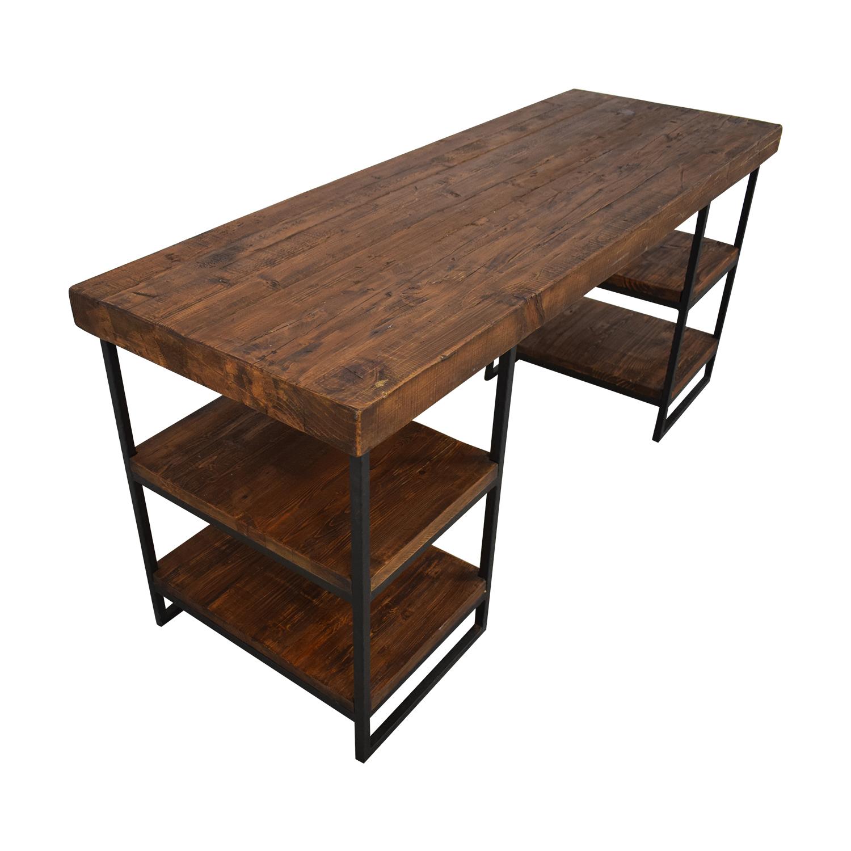 shop West Elm West Elm Hewn Wood Desk online