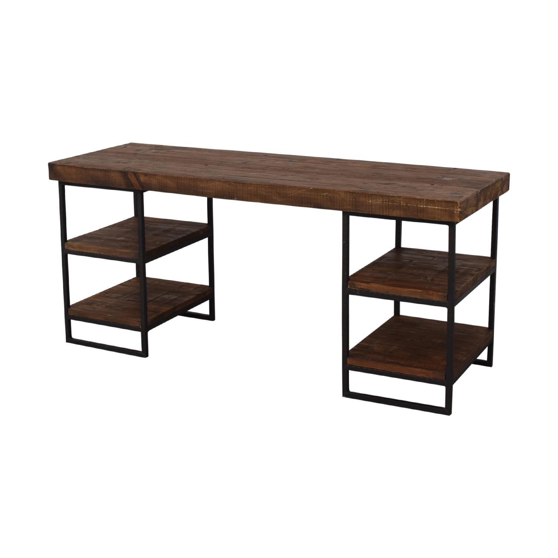 West Elm West Elm Hewn Wood Desk Brown