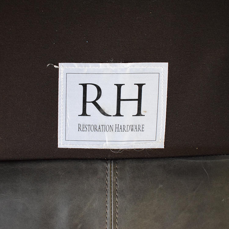 Restoration Hardware Restoration Hardware Maxwell Leather Sofa price