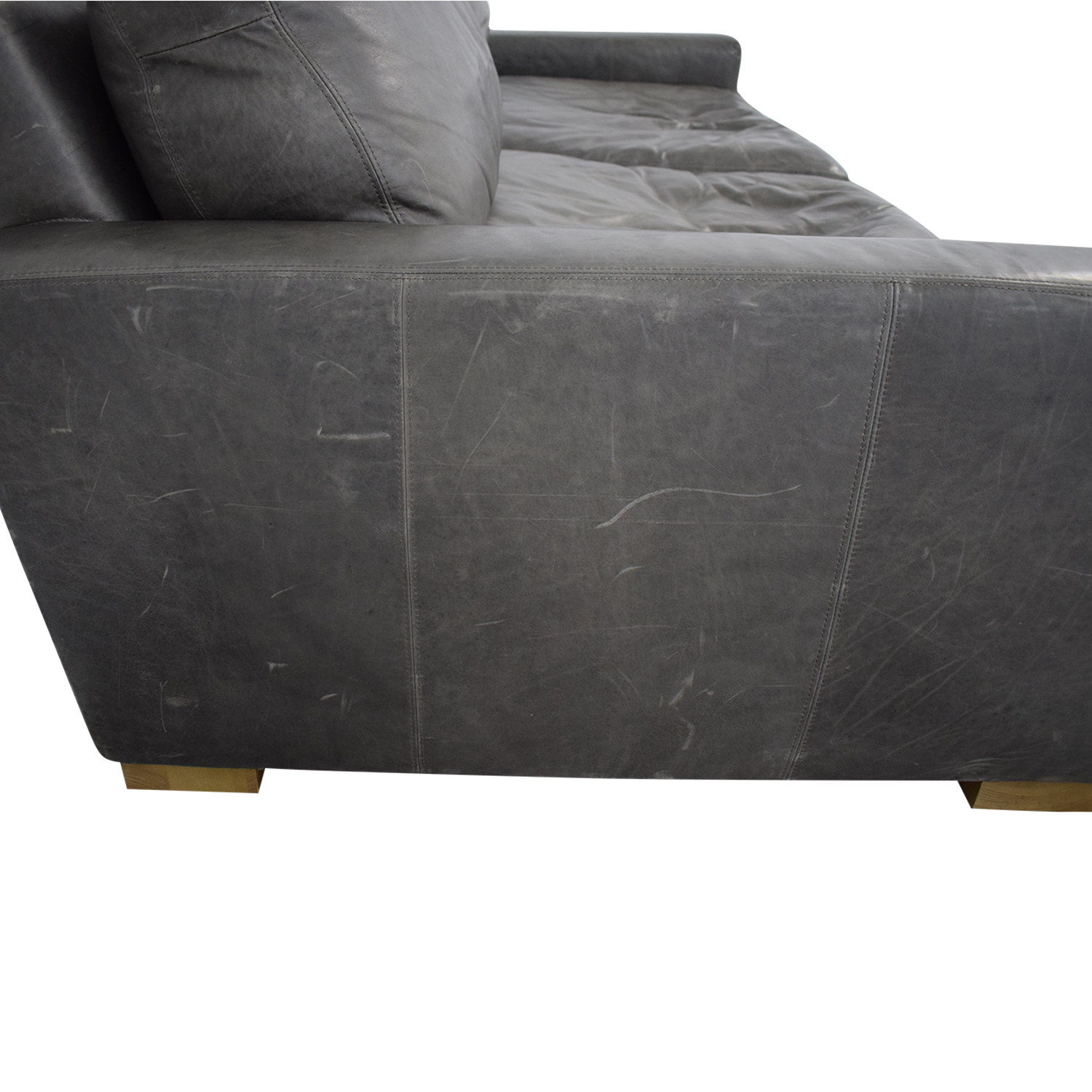 buy Restoration Hardware Restoration Hardware Maxwell Leather Sofa online