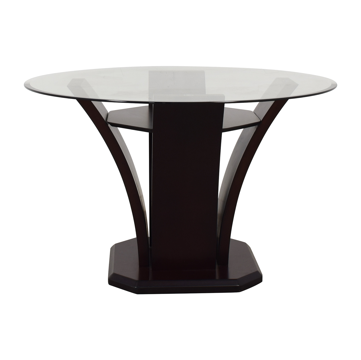 Raymour & Flanigan Raymour & Flanigan Venice Dining Table dark brown