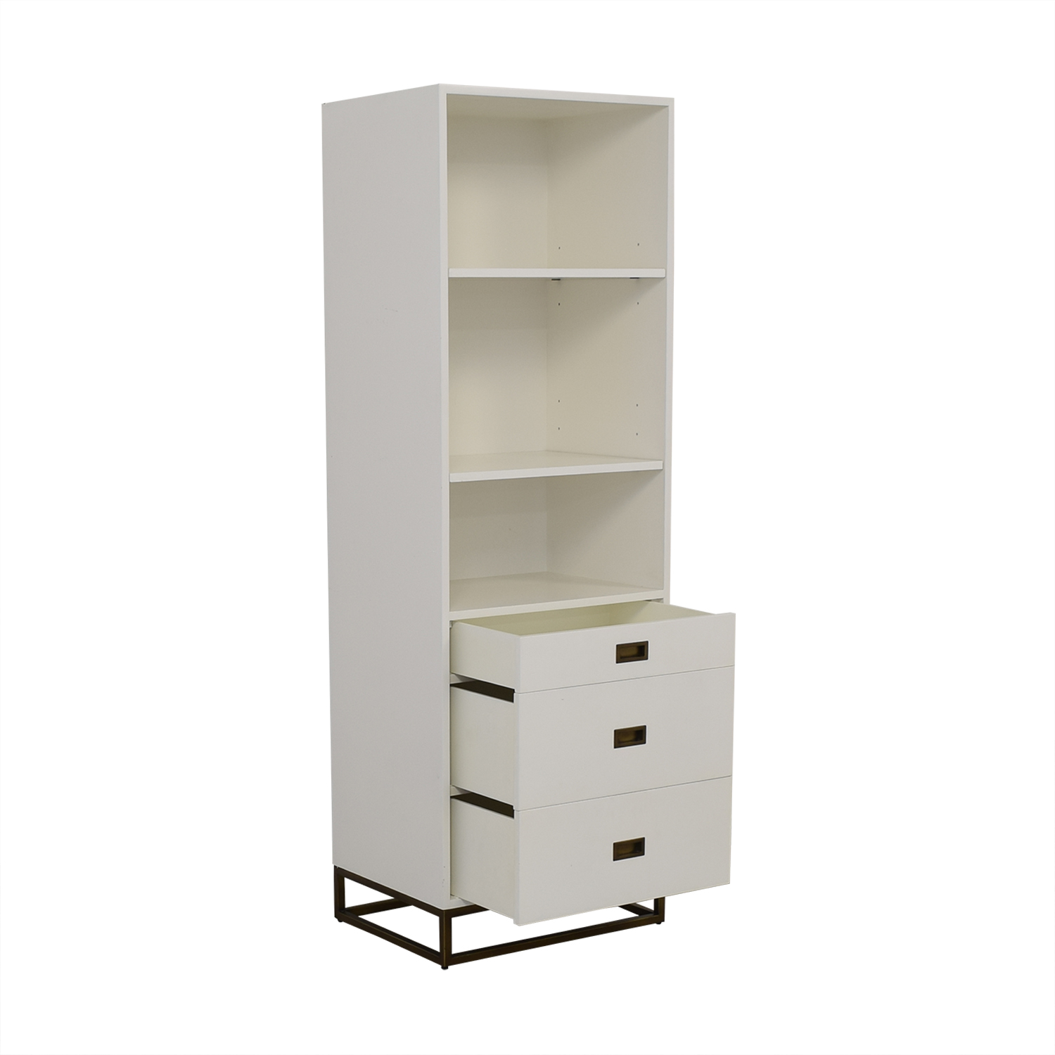 Restoration Hardware Restoration Hardware Avalon Bookcase Tower white