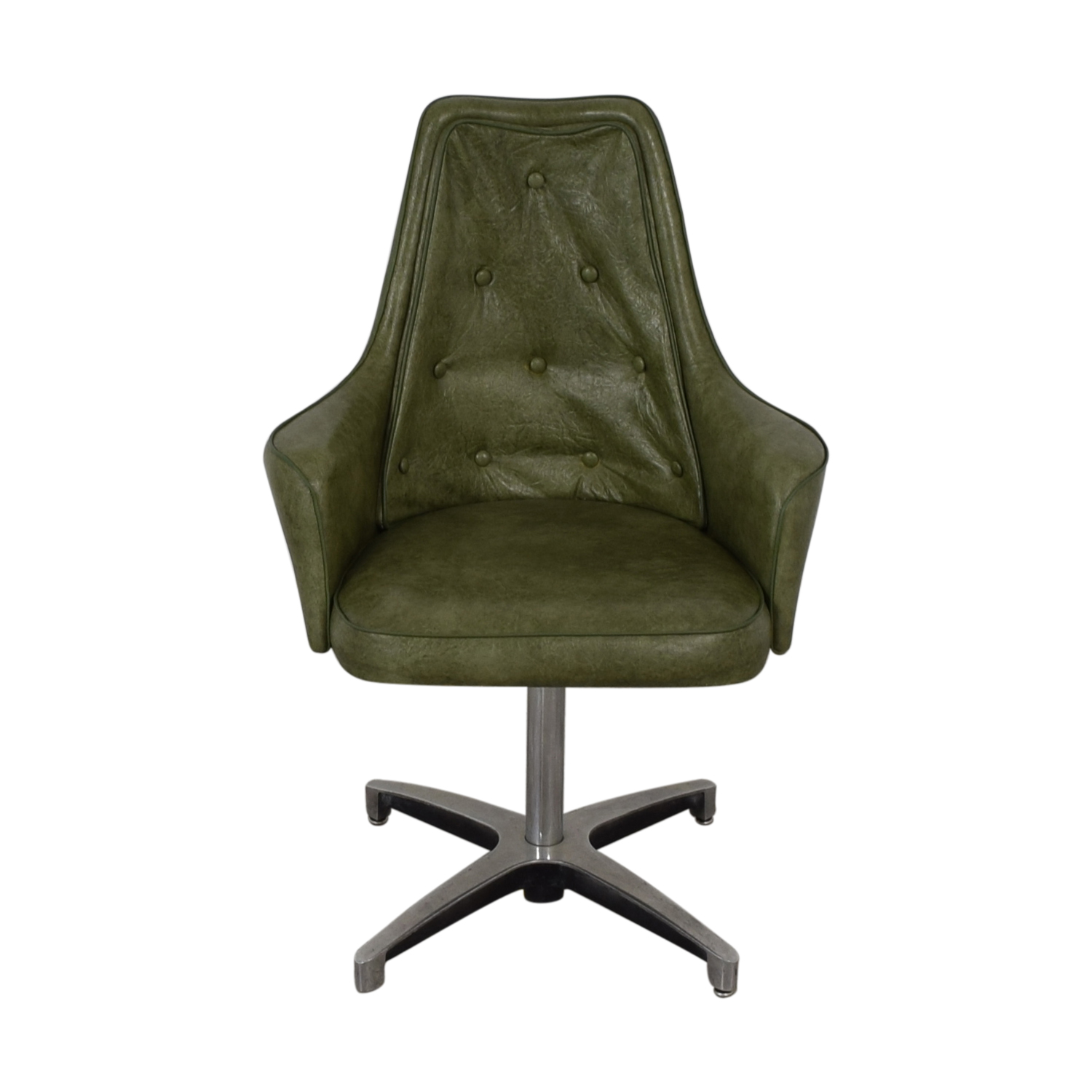 buy Spartan Chrome Furniture Green Leather Chair Spartan Chrome Furniture Chairs