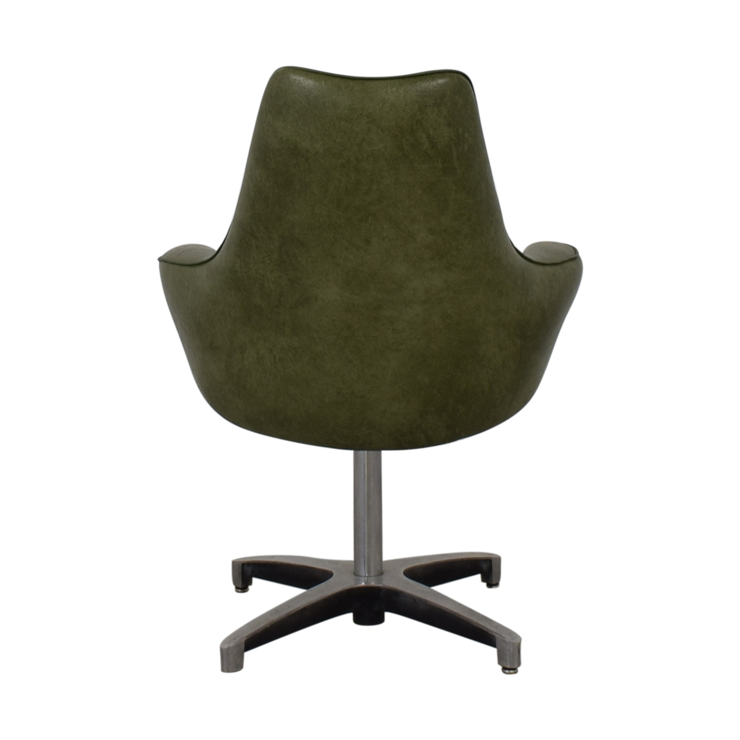 Spartan Chrome Furniture Spartan Chrome Furniture Green Leather Chair nyc