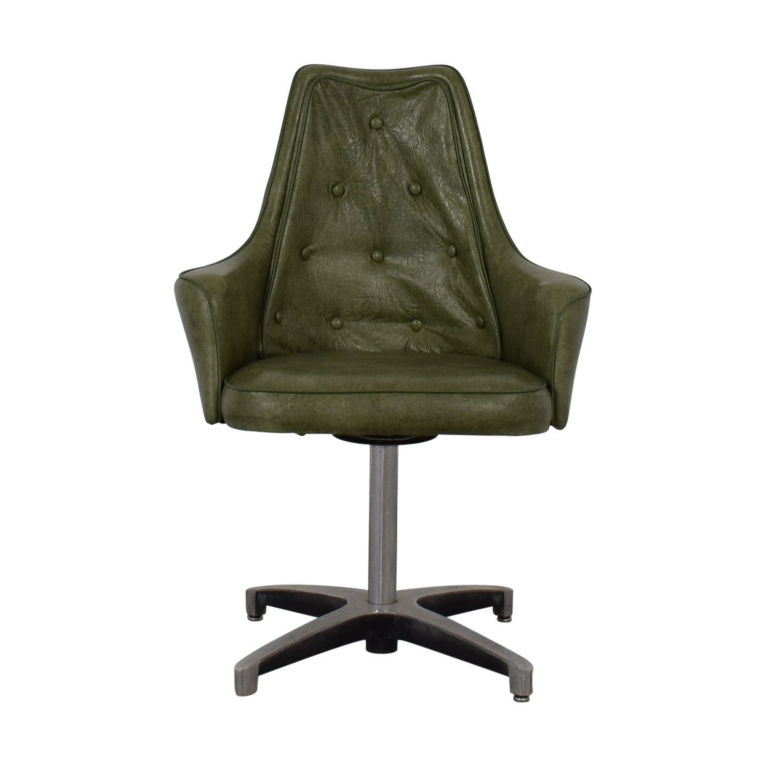 Spartan Chrome Furniture Green Leather Chair / Chairs