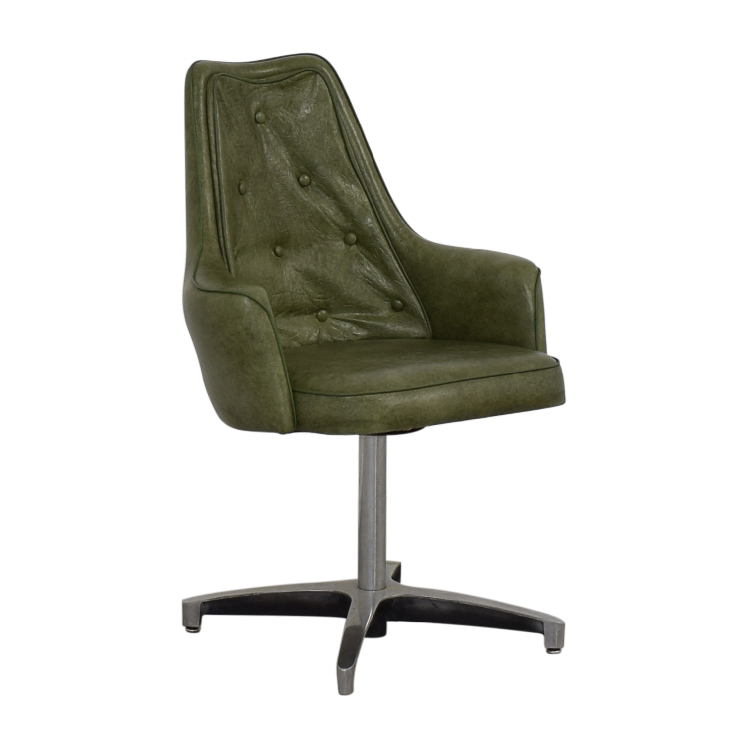 Spartan Chrome Furniture Spartan Chrome Furniture Green Leather Chair second hand
