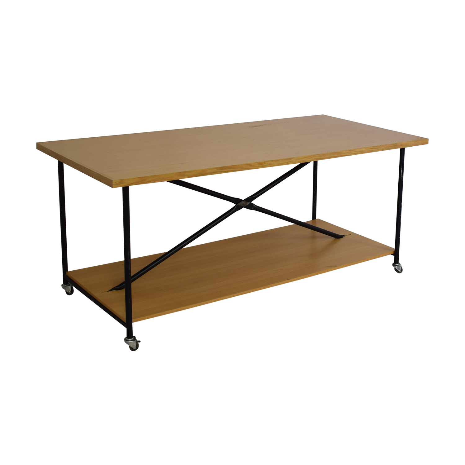 Wooden Work Table with Wheels price