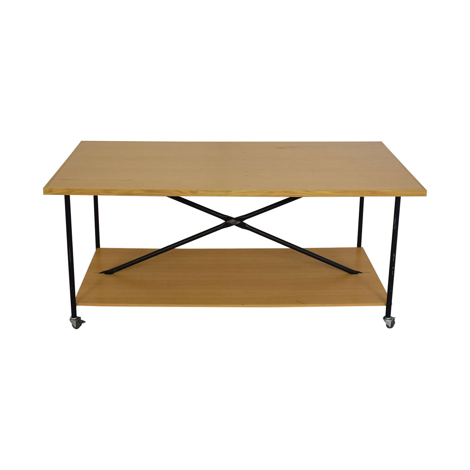 buy Wooden Work Table with Wheels  Tables