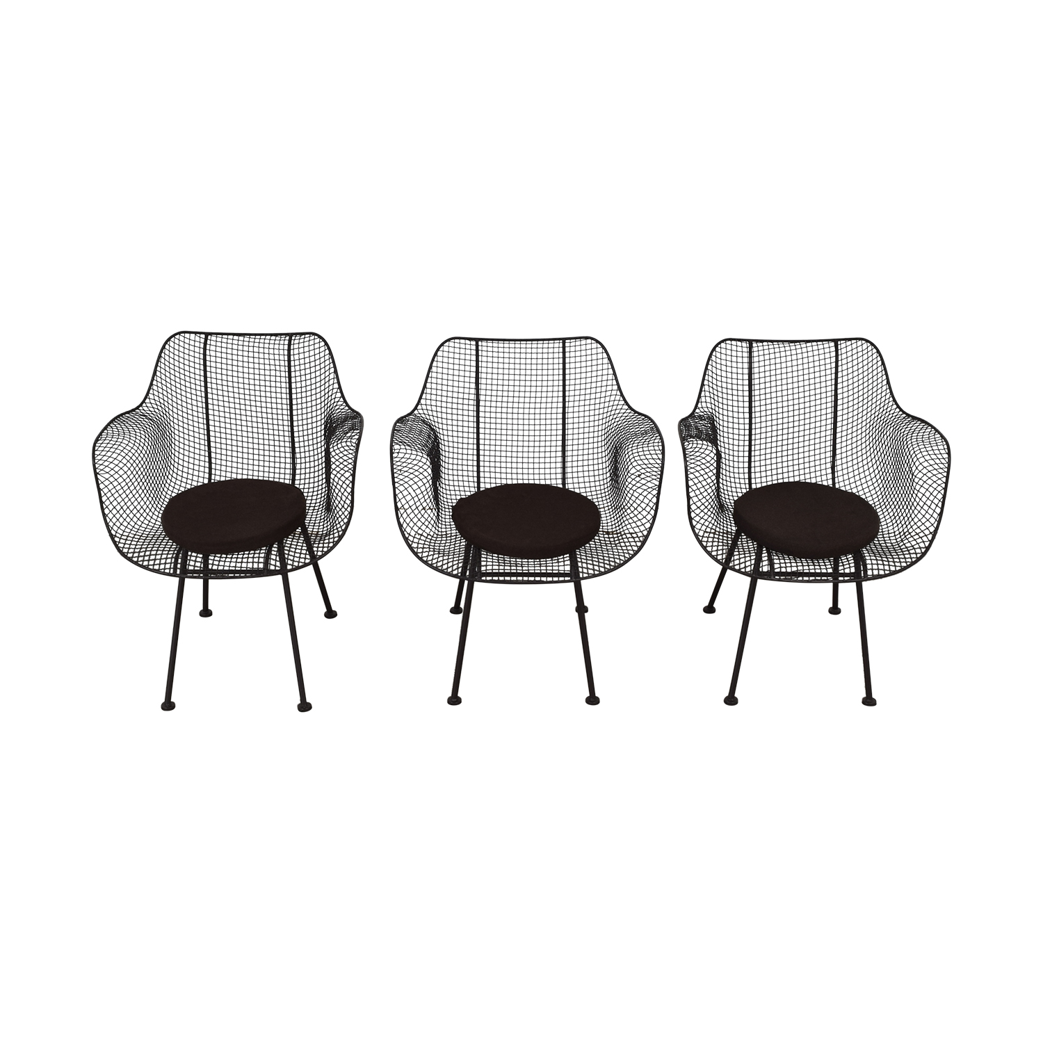 Restoration Hardware Restoration Hardware Metal Tub Dining Chairs used