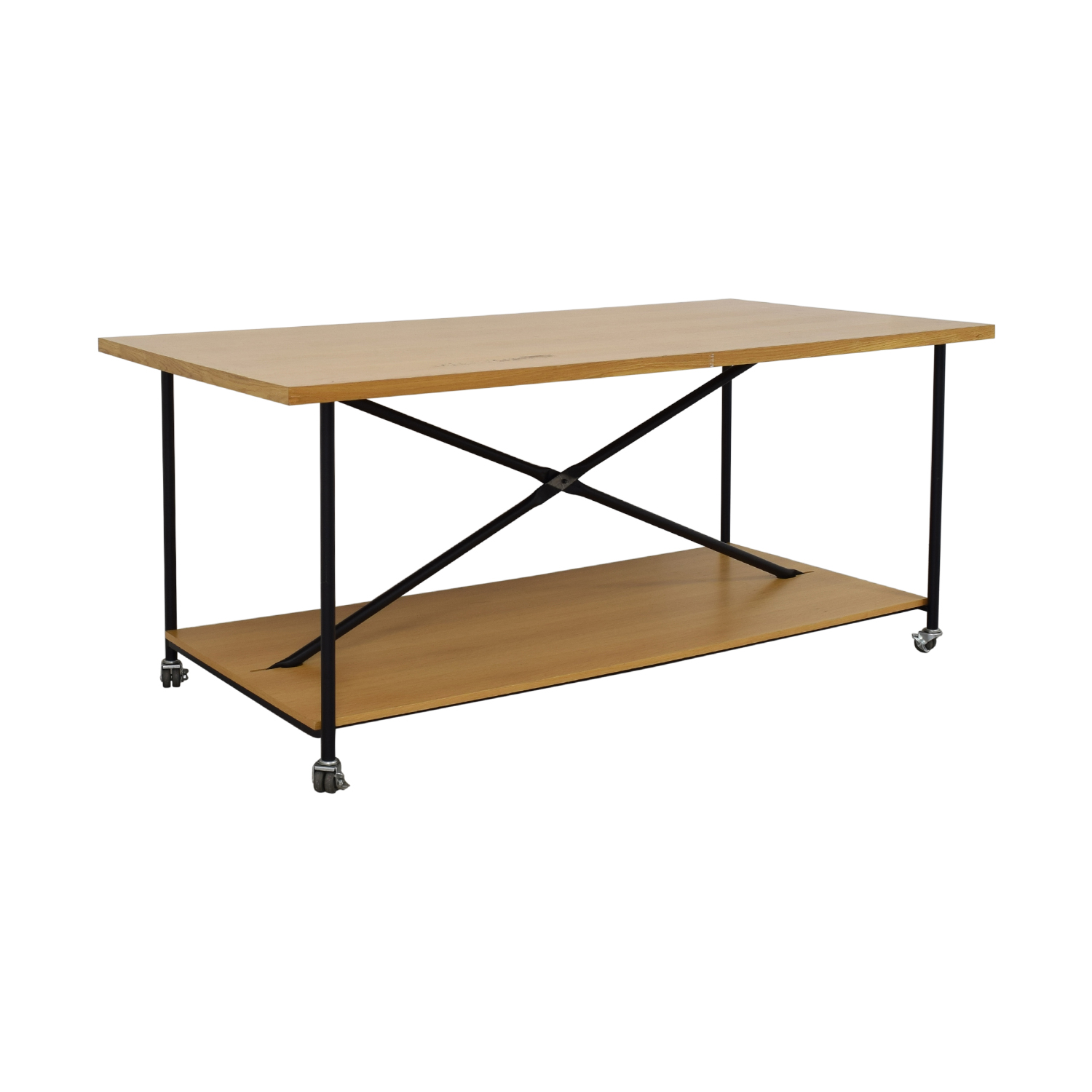 Wooden Work Table with Wheels coupon