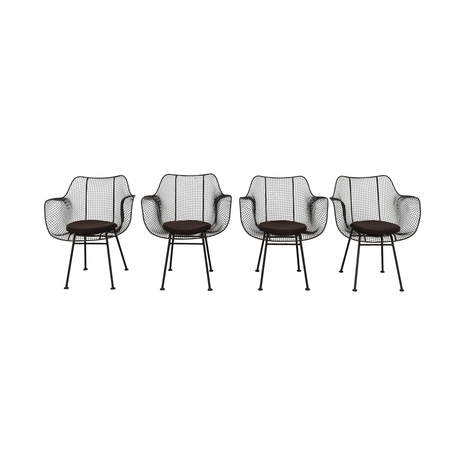 68% OFF   Restoration Hardware Restoration Hardware Metal Tub Dining Chairs  / Chairs