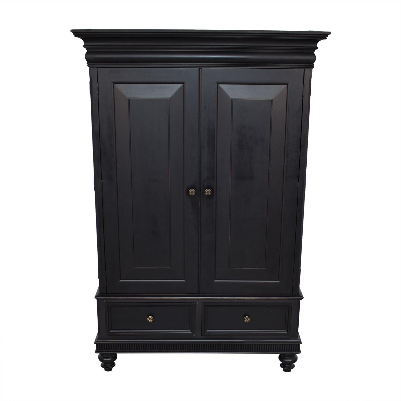 buy Ethan Allen Ethan Allen Matte Black Armoire online