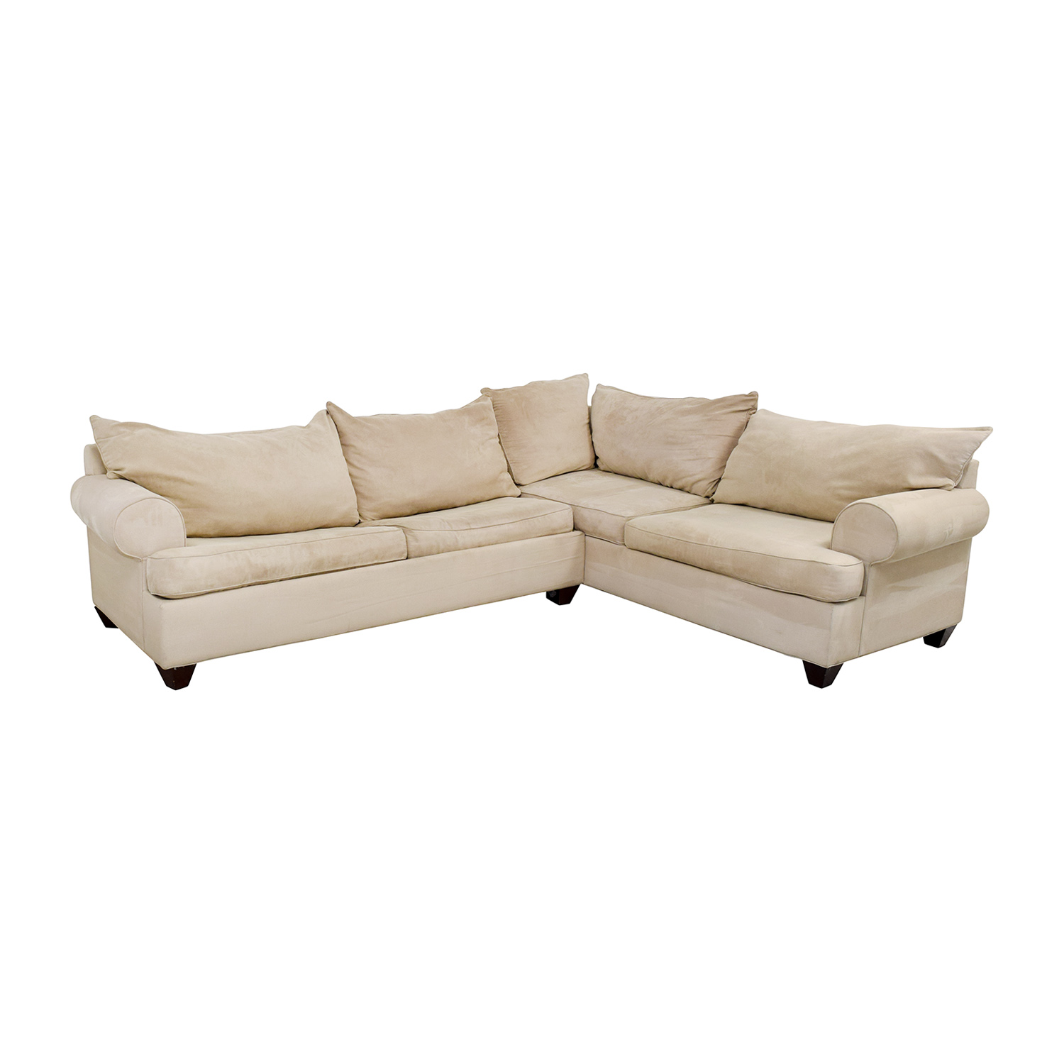 Raymour & Flanigan Raymour & Flanigan Sectional Sleeper Sofa beige