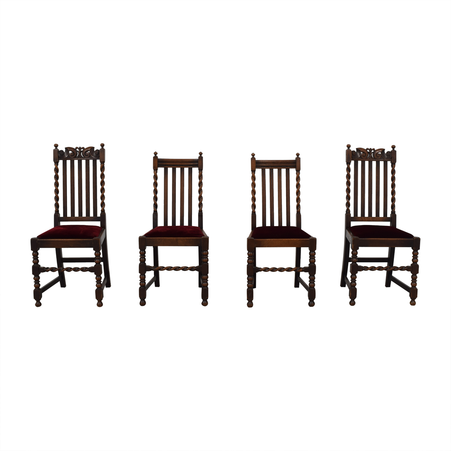Jacobian Barley Twist Chairs / Dining Chairs