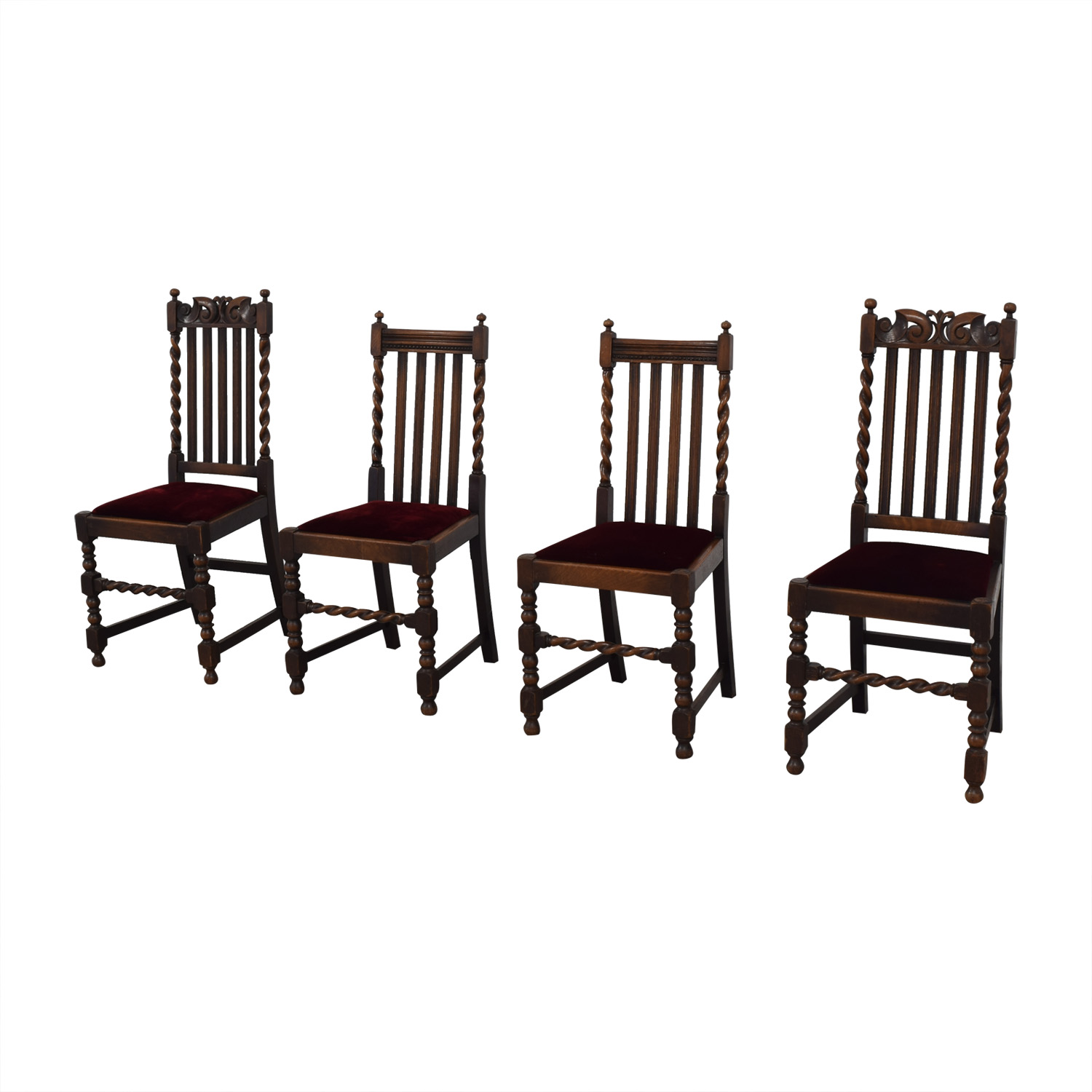 Jacobian Barley Twist Chairs dimensions