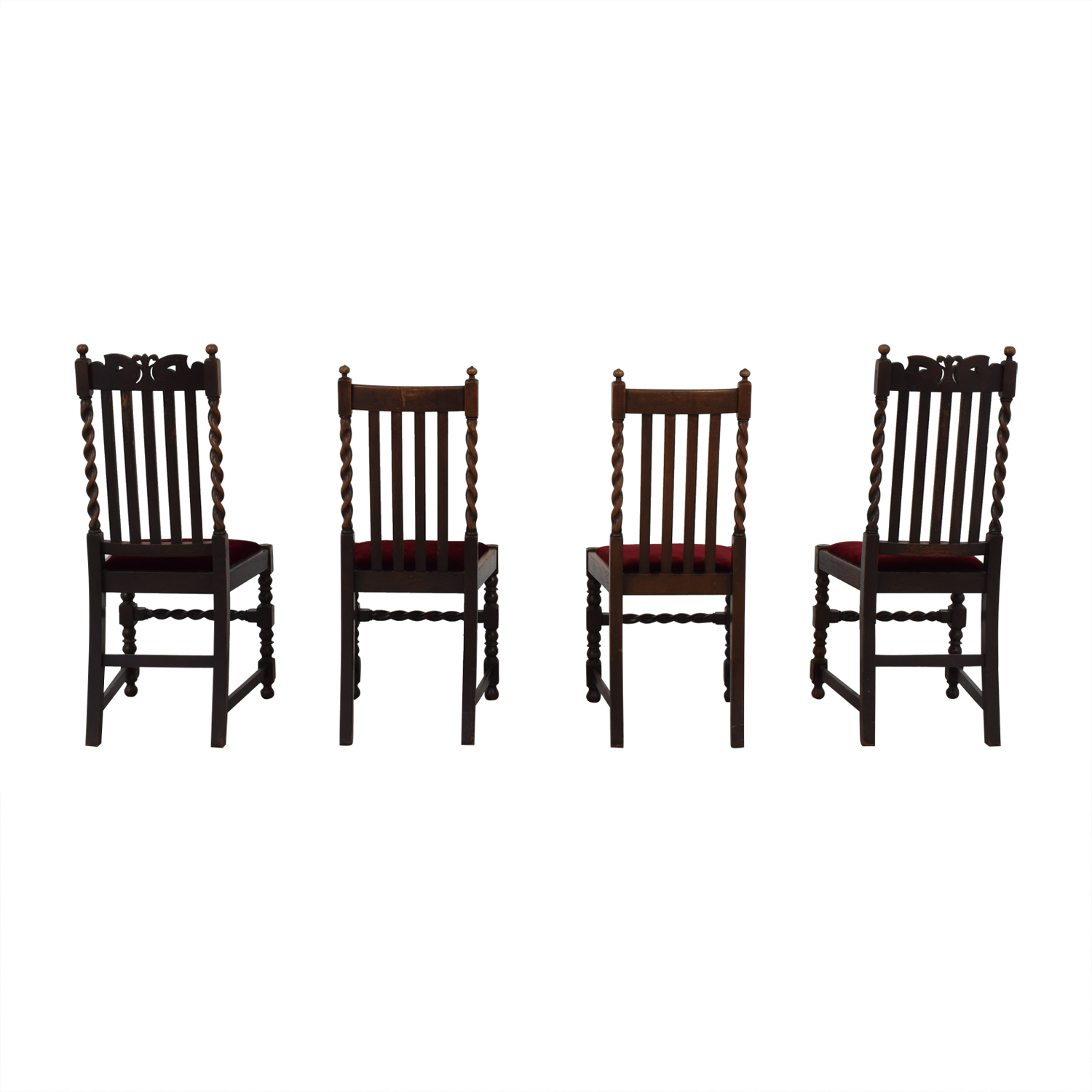 Jacobian Barley Twist Chairs