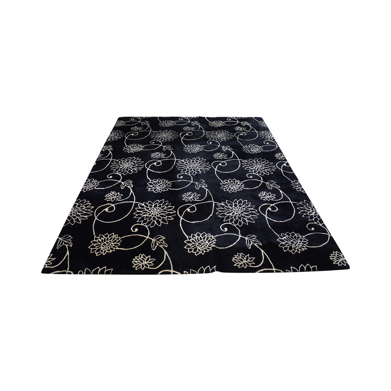 Black Floral Rug nyc