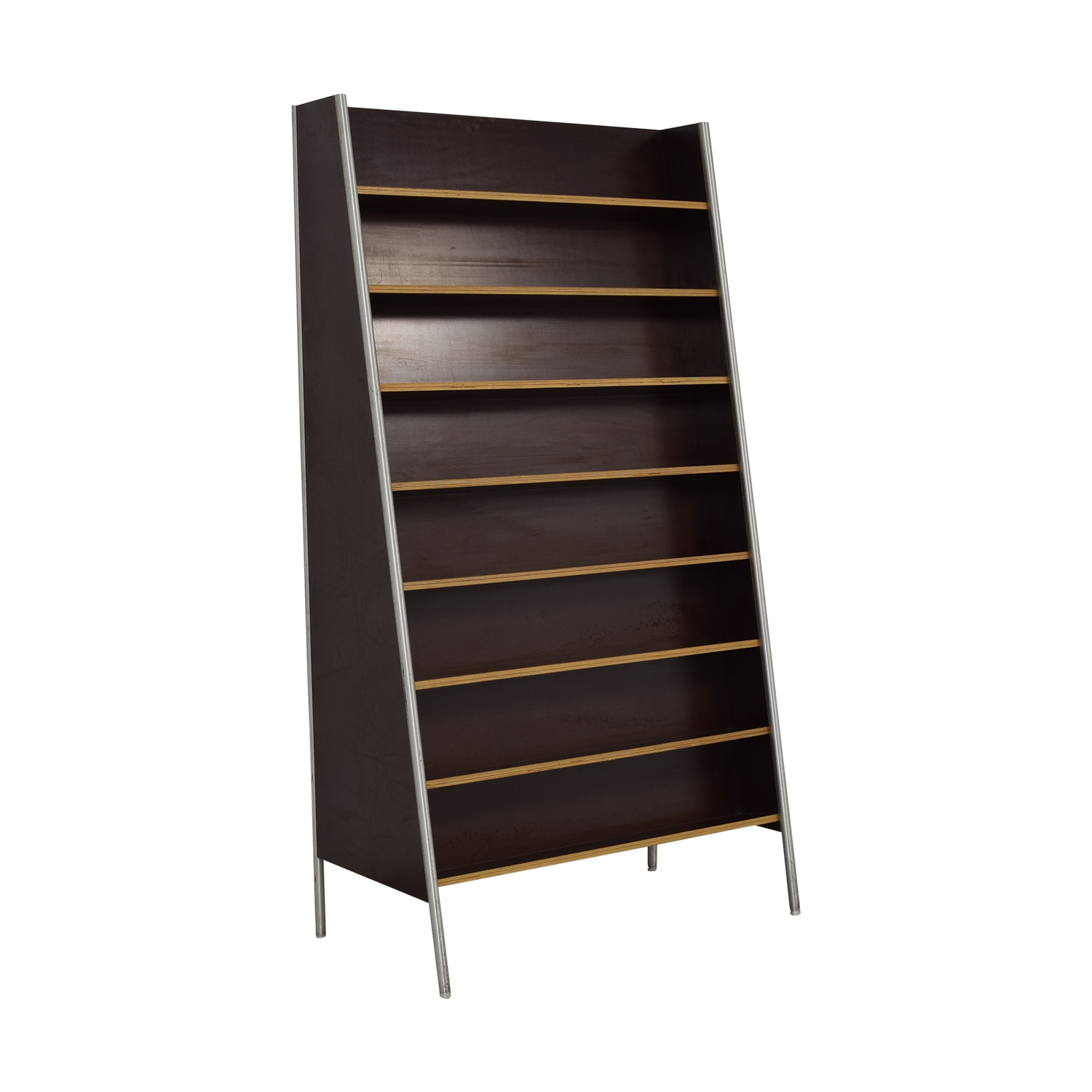 Custom Metal and Wood Bookcase / Bookcases & Shelving