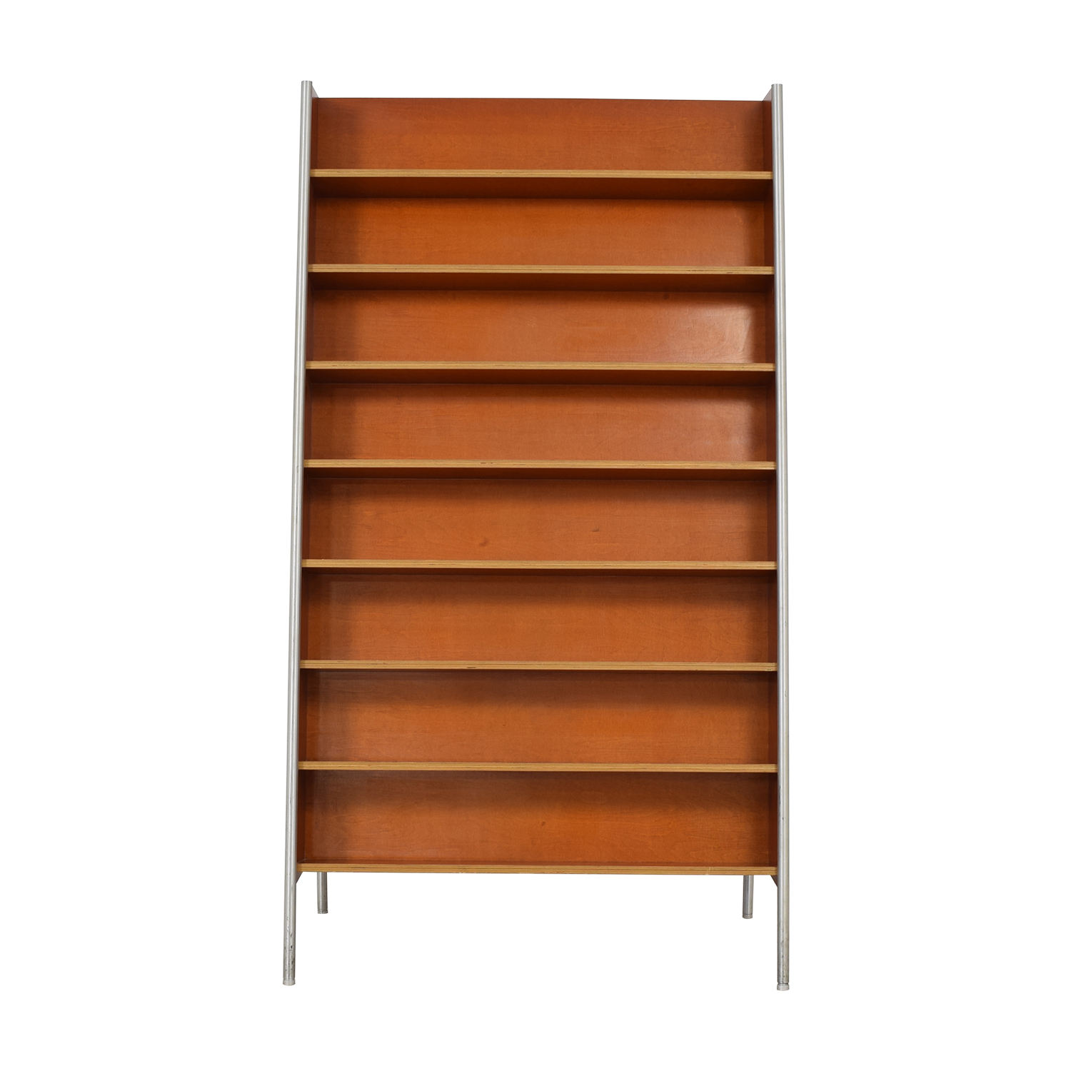 Custom Wood and Metal Bookcase used
