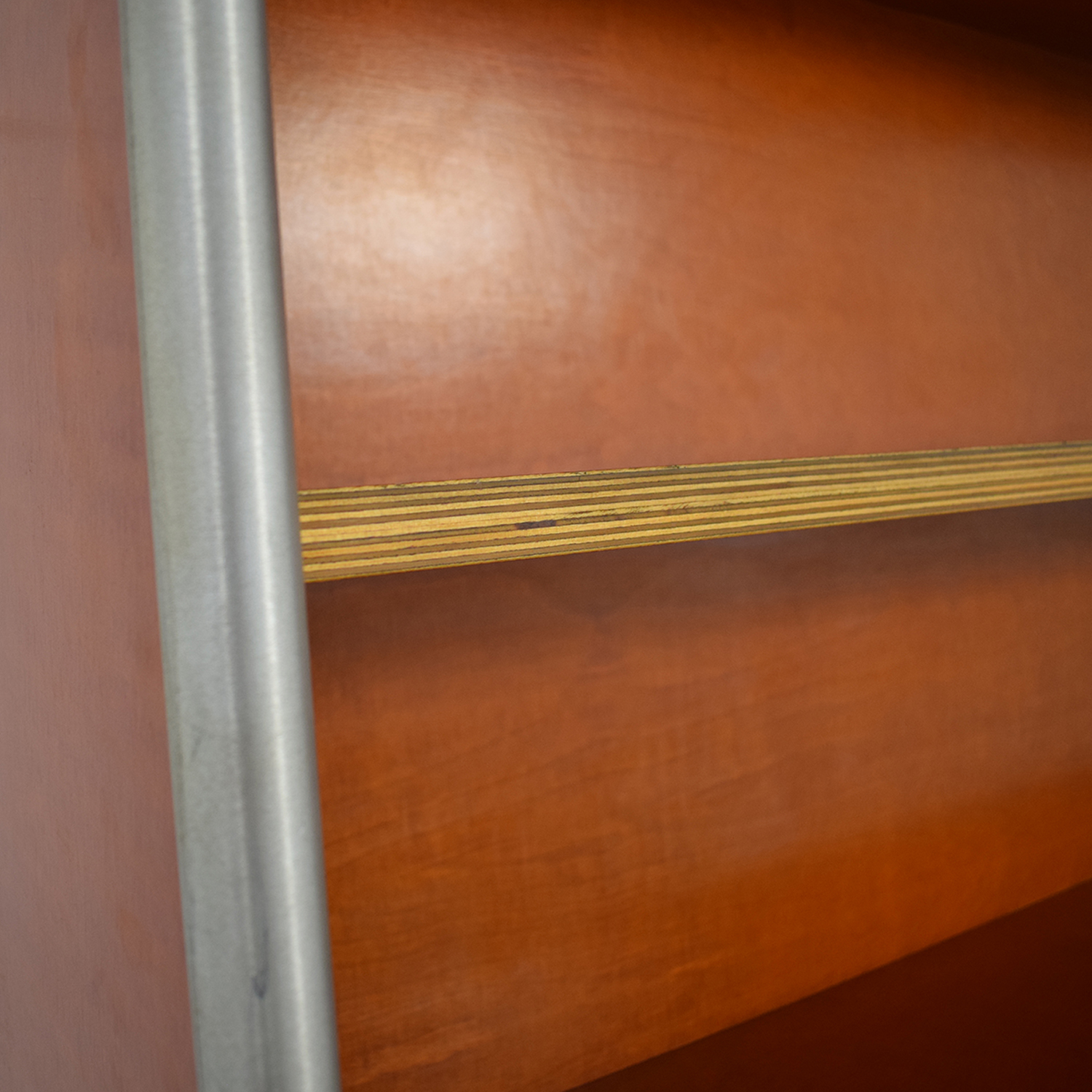 Custom Wood and Metal Bookcase for sale