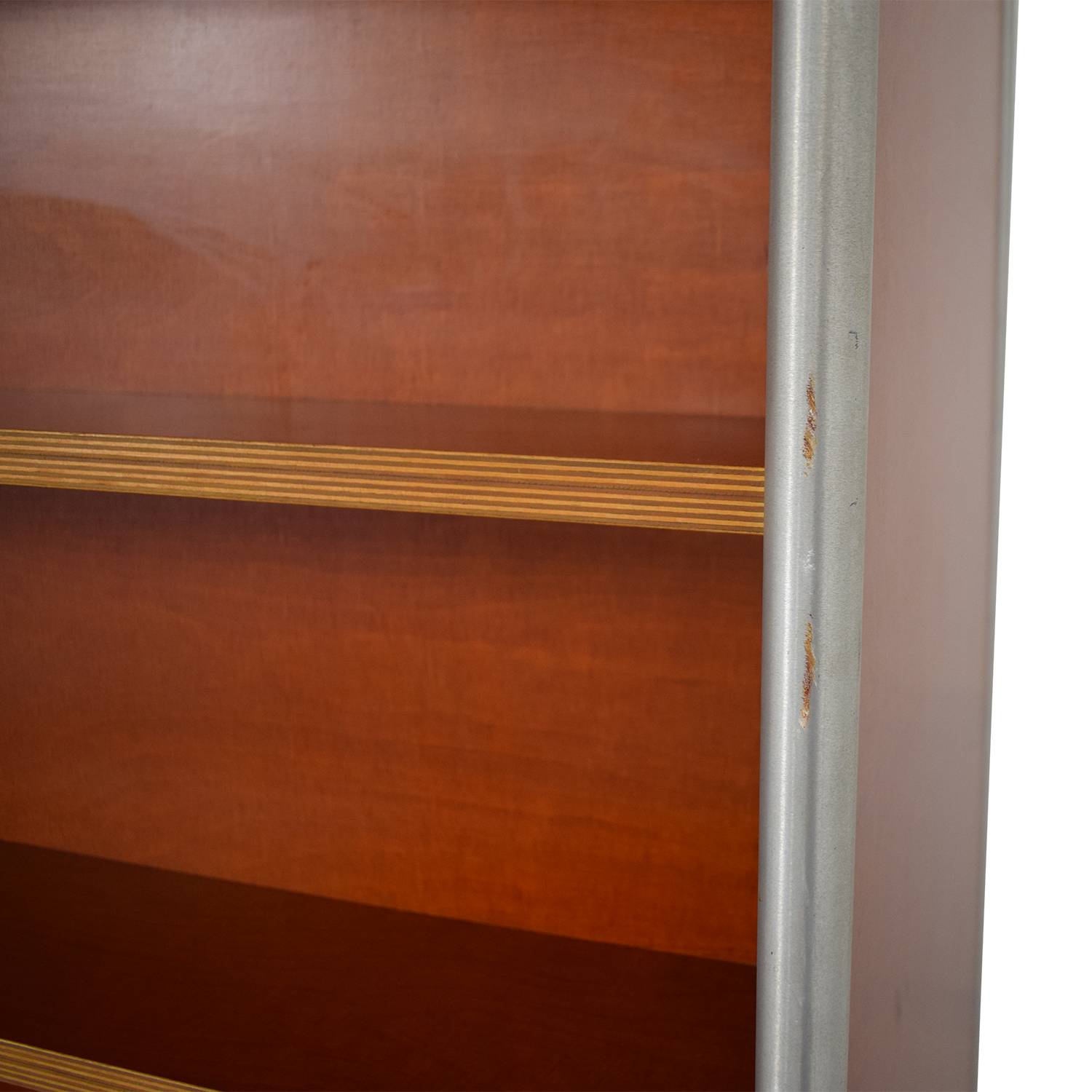 Custom Metal and Wood Bookcase second hand