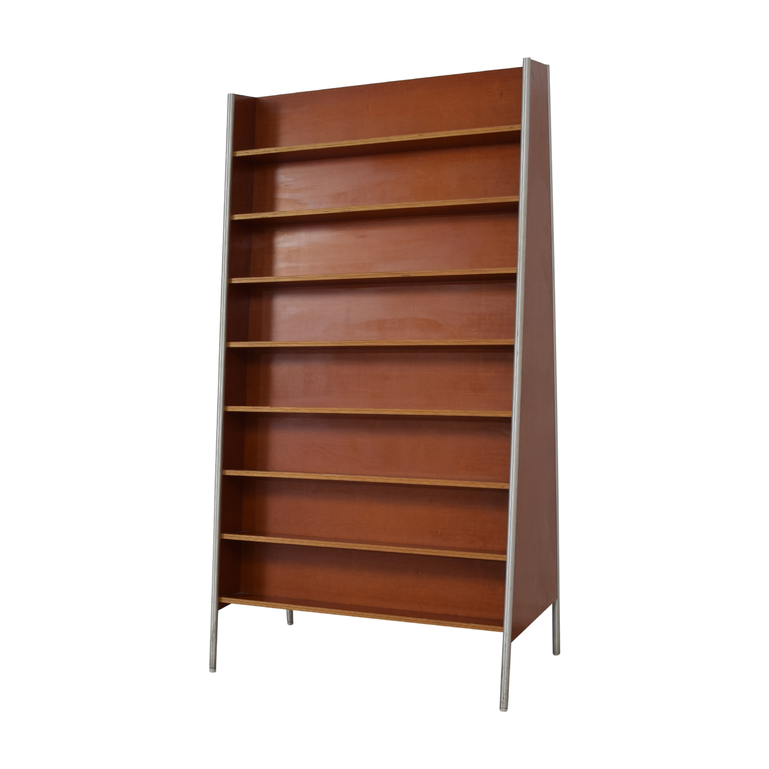 Custom Metal and Wood Bookcase brown
