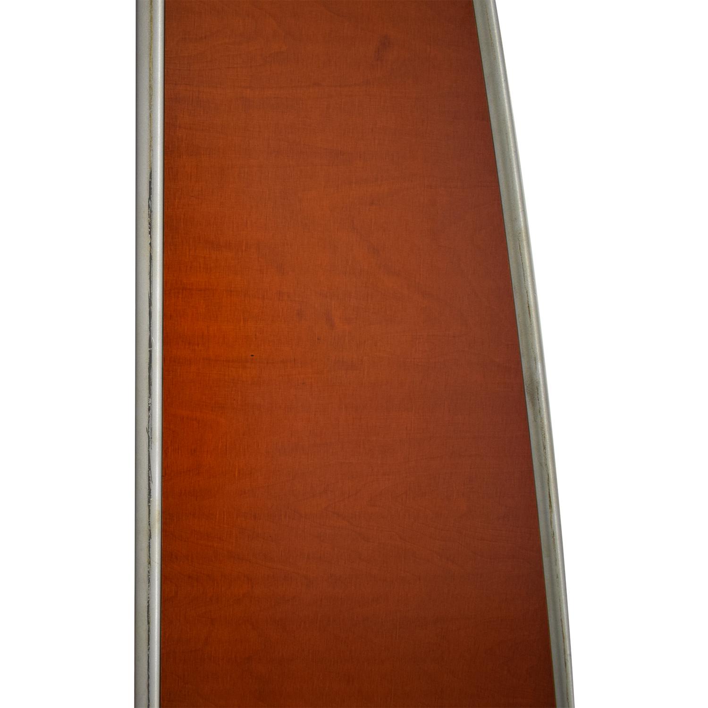 Custom Metal and Wood Bookcase brown